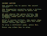 Alphabet Circus for IBM PC/Compatibles screenshot thumbnail - Game instructions for secret letter.