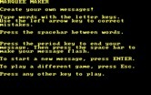 Alphabet Circus for IBM PC/Compatibles screenshot thumbnail - Marquee Maker instructions...