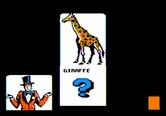 Alphabet Circus for Apple II screenshot thumbnail - If you guess wrong, the game provides the animal name as a clue.