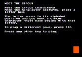 Alphabet Circus for Apple II - Meet the circus!