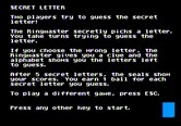 Alphabet Circus for Apple II screenshot thumbnail - Secret Letter game instructions.