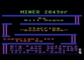 Miner 2049er for Atari 8-bit - Title screen.