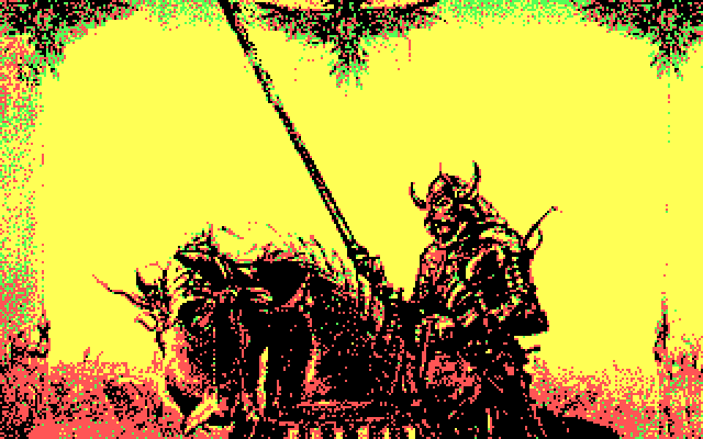 J.R.R. Tolkien's War in Middle Earth IBM PC/Compatibles Screenshot: The introduction screen.