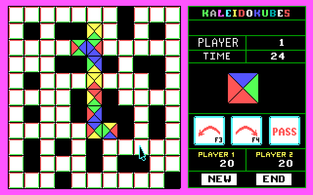 KaleidoKubes IBM PC/Compatibles Screenshot: This level is maze like.