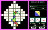 KaleidoKubes for IBM PC/Compatibles - Game boards can be different shapes, such as this diamond one.