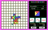 KaleidoKubes for IBM PC/Compatibles - Starting the game on an easy game board.