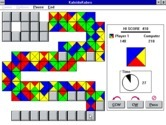 KaleidoKubes for Windows 3.x - The game becomes more difficult as the board fills up.