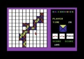 KaleidoKubes for Commodore 64 - Slowly filling the board...