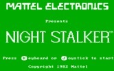 Night Stalker for IBM PC/Compatibles - Title screen.
