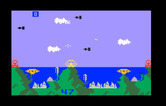 Atlantis for Intellivision - The first wave of attackers arrive...