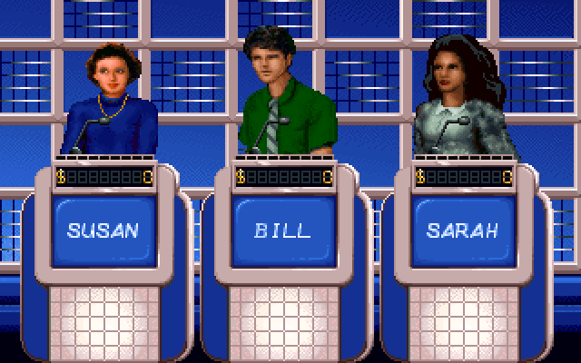 Jeopardy! IBM PC/Compatibles Screenshot: There are several available player images you can choose for the game.
