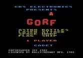 Gorf for Atari 5200 - Title screen.