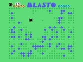 Blasto for TI-99/4A - Clearing the minefield.