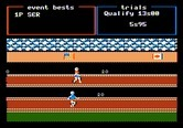 Track & Field for Apple II screenshot thumbnail - Racing towards the finish line...