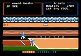 Track & Field for Apple II screenshot thumbnail - First jump is a foul.
