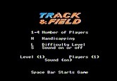 Track & Field for Apple II screenshot thumbnail - Game options.