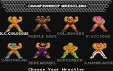 Championship Wrestling for Atari ST - Choose your wrestler...