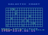 Star Raiders for Atari 5200 - Check out the galactic chart to see where both friends and enemies are.