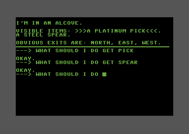 Adventure Pak Commodore 64 Screenshot: Trip to Atlantis - More stuff to collect...
