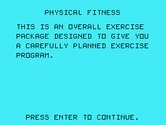 Physical Fitness for TI-99/4A - Introduction...
