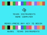 Physical Fitness for TI-99/4A - TI-99/4A starting screen.