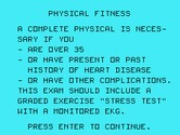 Physical Fitness for TI-99/4A - Disclaimer...