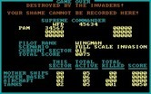 Prowler for IBM PC/Compatibles - Game over.