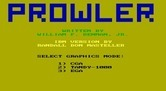 Prowler for IBM PC/Compatibles - Select graphics mode...