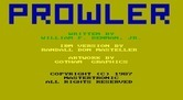 Prowler for IBM PC/Compatibles - Game credits.