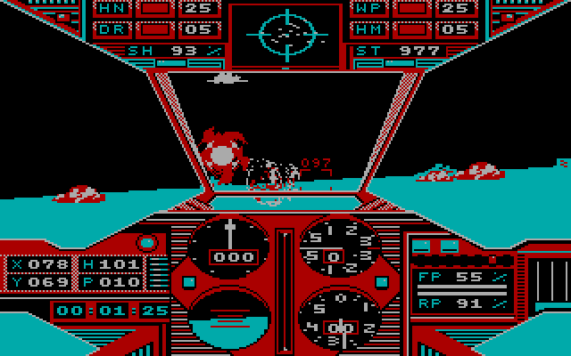 Prowler IBM PC/Compatibles Screenshot: Attempting to dodge enemy fire...