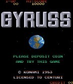 Gyruss for Arcade - Title screen (U.S. version).
