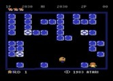 Pengo for Atari 8-bit - The last Sno Bee tries to escape...