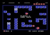 Pengo for Atari 8-bit - Game over.