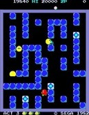 Pengo for Arcade - The sno-bees become trickier as the game progresses.