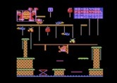 Donkey Kong Junior for Atari 8-bit - Hanging on to reach the other side of this gap.