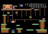 Donkey Kong Junior for Atari 7800 - Reaching for a rope...but can't quite make it!