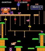Donkey Kong Junior for Arcade - Level 2; jump over the gaps!