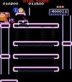 Donkey Kong Junior for Arcade - Reached the top!