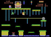 Donkey Kong Junior for ColecoVision - Knock fruit into opponents to eleminate them.