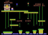 Donkey Kong Junior for ColecoVision - Game over.