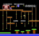 Donkey Kong Junior for NES - Game over.