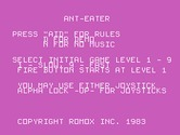 Anteater for TI-99/4A - Title screen.