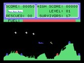 Protector II for TI-99/4A screenshot thumbnail - Protector II gameplay; don't get hit by missiles!