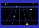 Beamrider for Atari 5200 - The game starts out easy with just some flying saucers.