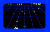 Beamrider for Intellivision - Shoot the blue ships before they become stuck at the bottom of the screen.