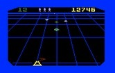 Beamrider for Intellivision - The green bouncer ship moves rapidly across the screen...