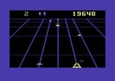 Beamrider for Commodore 64 - The game becomes faster as it progresses...