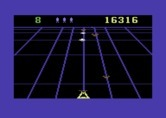 Beamrider for Commodore 64 - The trackers rapidly switch beams to follow you.