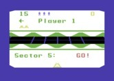 Beamrider for Commodore 64 - Starting a multi-player game; it's player one's turn...