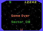 Beamrider for ColecoVision - Game over.